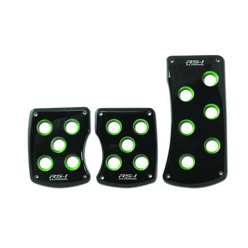 RazR RS-1 Tuning Aluminum Manual Racing Pedal Pad Kit Green PM-2321G2
