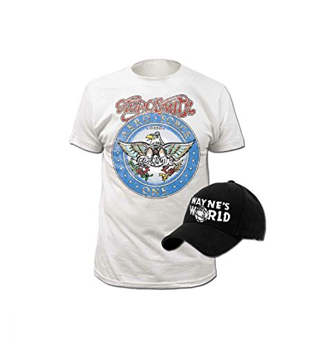 [Wayne's World T-shirt and Hat Costume Set (Adult X-Large)] (Tv Commercial Costumes Halloween)