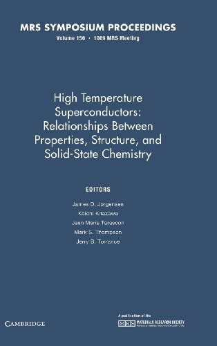 High Temperature Superconductors: Volume 156: Relationships between Properties, Structure, and Solid State Chemistry (MR