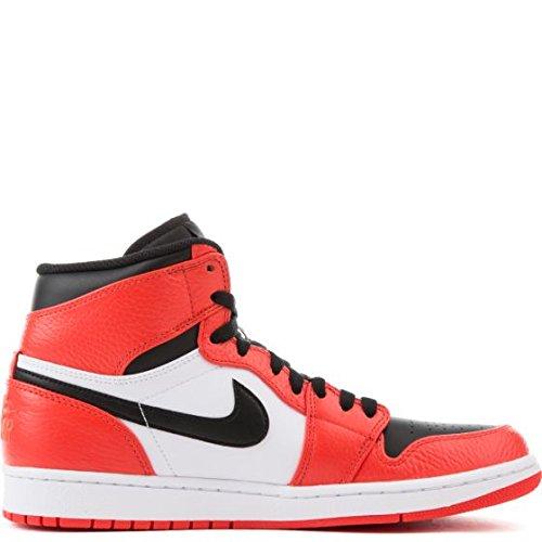 Nike Mens AIR JORDAN 1 RETRO HIGH, MAX ORANGE/BLACK, 15