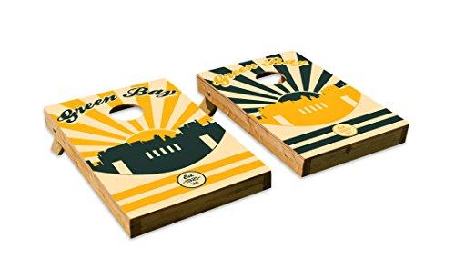 Fantastic Green Bay Packers Design Cornhole Bean Bag Toss Board Set Pabps2019 Chair Design Images Pabps2019Com