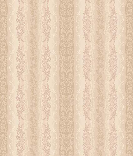 (Décor Direct YWAR7783 Pattern Wallpaper, Iridescent Beige, Rose, Cream and tan Pearl)