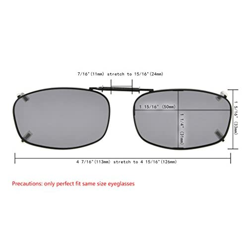 dad7ccbcb Lovely Eyekepper Gris/marrón/G15 lente 3-Pack clip-en gafas de sol ...