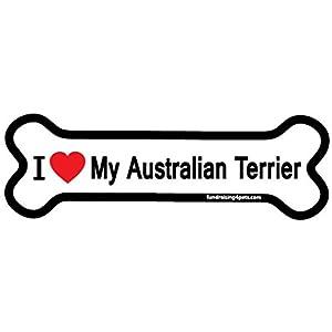 I Love My Australian Terrier bone magnet 1