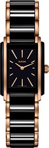 Reloj de cuarzo integral Rado con correa de cerámica, negro, 21 (modelo: R20194162)