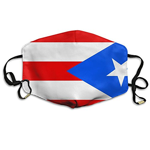 MINGYING Puerto Rico Flag Anti Dust Breathable Face Mouth Mask For Man Woman