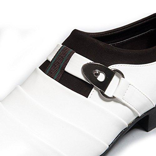 de Estilo Negocios Hombres Planos On Comodidad de Vestir Blanco Oxfords Boda Zapatos Mocasines Casual Británico Slip de Minetom dOqwaIO