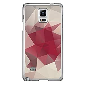 Loud Universe Samsung Galaxy Note 4 Geometrical Printing Files A Geo 7 Printed Transparent Edge Case - Off White/Pink