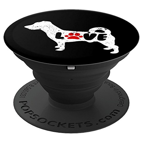 Paw Print Love Jack Russell Terrier Love With A Paw - PopSockets Grip and Stand for Phones and Tablets ()