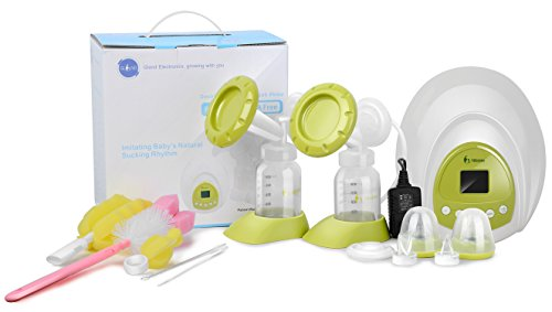 Nibble Double/Single Electric Breast Pump-2 Mode & 10 Levels suction[BPA FREE]