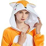 Adult Fox Onesie Costume Pajamas for Women Men Teens Girl Animal Onsie Pj Unisex, Medium