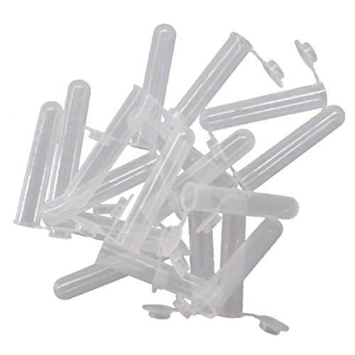 JIUWU 10mL Plastic EP Vial Tube Sample Storage Container Liquid Centrifuge Tube Pack Of 50 (Plastic Vials Tubes)