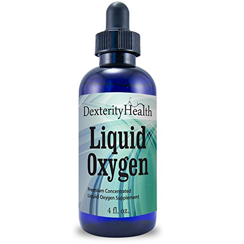 Liquid Oxygen Drops | 4 oz. Dropper-Top Bottle | All-Natural, Vegan, Safe and Sterile | Proprietary Blend of Oxygen-Rich Compounds | Premium-Quality, Concentrated and Stabilized Liquid Oxygen Drops