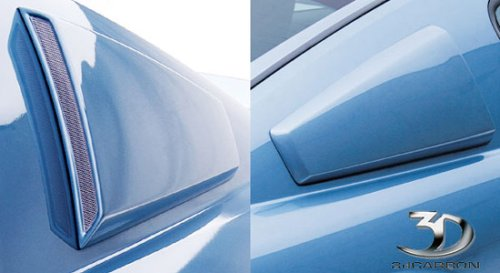 3dCarbon 691018 05-09 Ford Mustang Urethane Quarter Window Scoops - ()