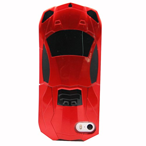WiserEcro New 3D Luxury Fast F1 Racing Car Hard Stand Case For Iphone 5/5S Red