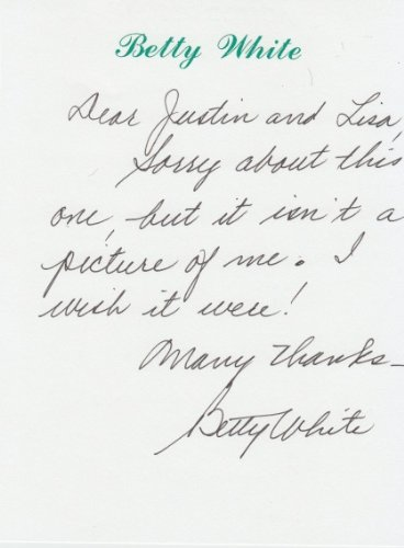 BETTY WHITE (The Golden Girls) signed letter on her personal stationary entir…