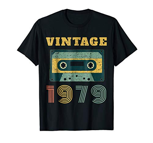 (40th Birthday Gift Vintage 1979 Year Old Mixtape T-Shirt)