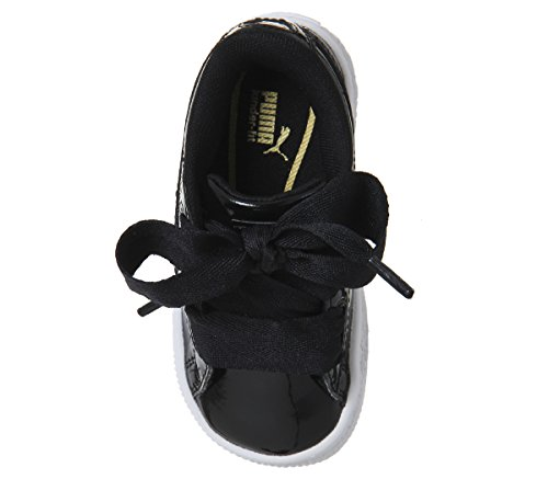 Black Sneakers puma Patent Basket Enfant Noir Black puma 01 Puma Inf Heart Basses Mixte SU1w7