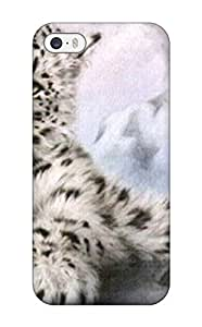 Best 2502140K72550100 Faddish Phone Snow Leopard Case For Iphone 5/5s / Perfect Case Cover