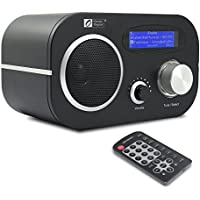 Ocean Digital Wi-Fi Internet FM Radio WR80 WLAN Wireless Ethernet Connection Desktop Music Media Player LCD Display