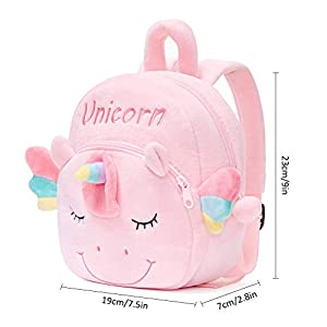 Amiispe Cute unicorn backpack school bag unicorn gifts personalized for baby girl toddler backpack