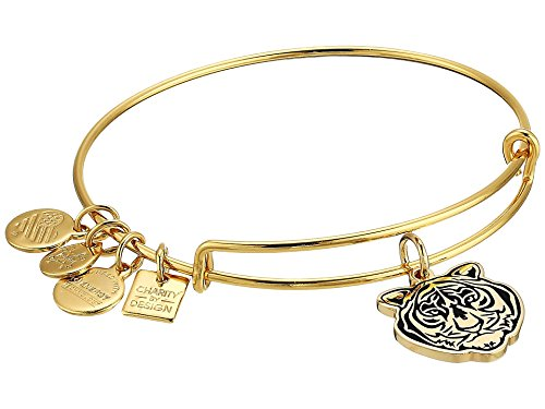 Alex and Ani Women's Charity by Design Tiger Head Bangle Bracelet, Shiny Gold