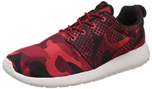 Nike Roshe One Print, Scarpe Sportive, Uomo Multicolore (Mehrfarbig (Daring Red/Black-gym Red-tm Rd))