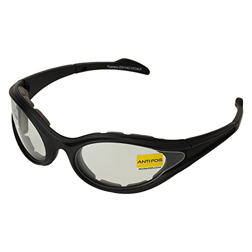Bobster Foamerz Sport Sunglasses,Black Frame/Clear Lens,one size