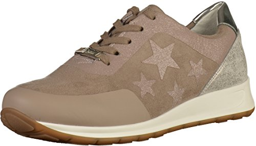 ara Women's 1244563-10 Lace-Up Flats Taupe