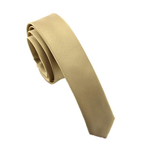 Elviros Mens Solid Color Eco-friendly Fashion Skinny Tie 1.6'' (4cm) Black