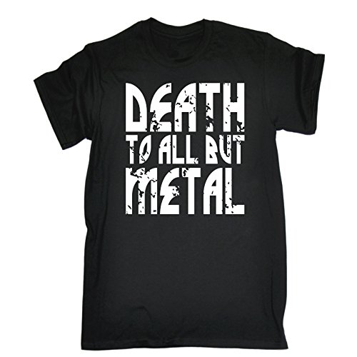 Fonfella Slogans Men's Death To All But Metal - Loose Fit Baggy T Shirt