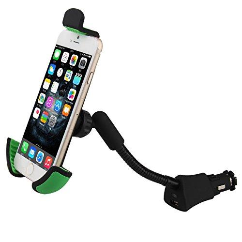 - Car USB Charger Holder, Universal Car Mount Cell Phone Gooseneck Cigarette Lighter Socket Holder Stand for iPhone X 8 7 6 5 4 Plus Samsung GPS PDA etc Mobile Device