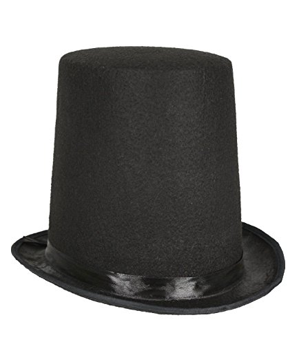 Price comparison product image Honest Abe Lincoln Men's 8 Inch Black Felt Stovepipe Top Hat