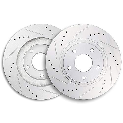 ECCPP Brake Rotors, 2pcs Front Brake Discs Rotors Brakes Kits fit for 2003 2004 2005 Infiniti G35,2003 2004 2005 Nissan 350Z ()