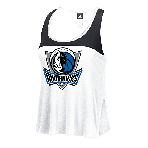 Dallas Mavericks Block - NBA Dallas Mavericks Women's Color Block Tank Top, X-Large, White