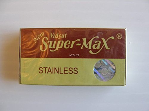 10 x 5 = 50 Blades. Supermax Double edge safety razor blade.