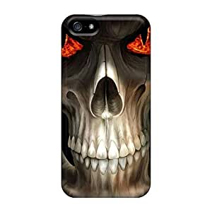 Ultra Slim Fit Hard NikRun Case Cover Specially Made For Iphone 5/5s- Evil Skull