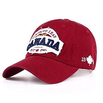 ZYMZ Nuevo Algodón Canadá Gorra de béisbol Bandera de Canadá ...