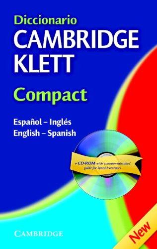 Diccionario Cambridge Klett Compact Español-Inglés/English-Spanish Hardback with CD-ROM (English and Spanish Edition)