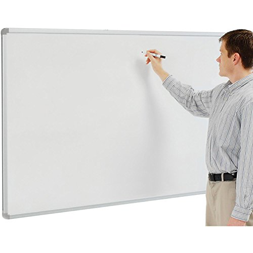 Porcelain Whiteboard, White, 72 x 40 by Luxor Corp