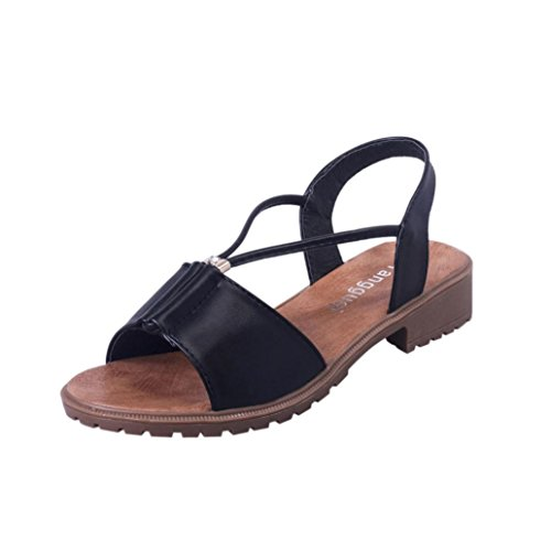 vestir planos Sandalias zapatos suaves ® sandalias Ouneed Negro moda mujer de Bohemia Zapatos de wq5xR5XS