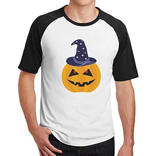 Men Pumpkin Halloween Baseball T Shirts Popular Raglan 3/4 Sleeves Tee]()