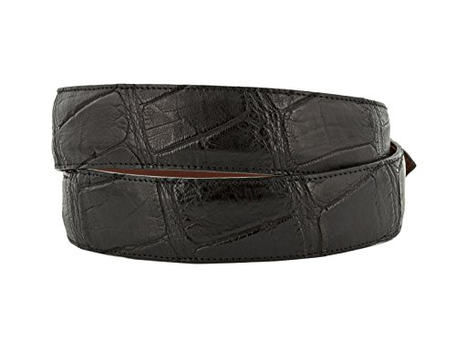 El Presidente - Men's Black Genuine Alligator Belly Skin Leather Western Cowboy Belt 44 by El Presidente (Image #1)