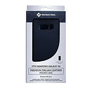 Member's Mark Premium Italian Leather Phone Case for Samsung Galaxy 8 (Black)