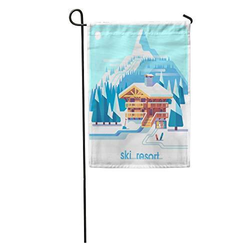 Semtomn Garden Flag Ski Resort Mountain Detailed Landscape L