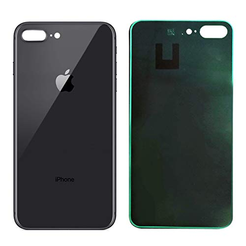 Apple iPhone 8 Plus Replacement Back Glass Cover Back Battery Door w/Pre-Installed Adhesive,Best Version Apple iPhone 8 Plus All Models OEM Replacement (Black)
