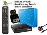 Formuler z7+ Android 7 2Gb 4K 60fps + External W3 1200mbps Dual Band WiFi [2.4G & 5G] & Bluetooth + Free Phone Charger 3 in 1