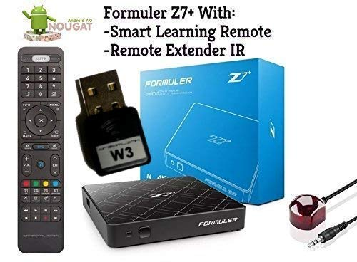 Formuler z7+ Nougat 7 Dual Band WiFi & Bluetooth with Smart Learning Remote + Free Phone Charger 3 in 1 (W3 1200MBPS)