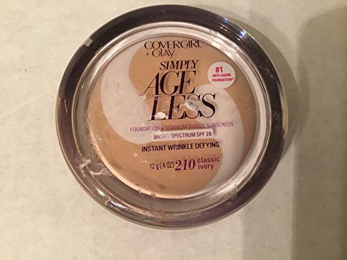 COVERGIRL+OLAY Simply Ageless Instant Wrinkle-Defying Foundation, 210 Classic Ivory