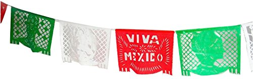 Mexico Decorations - Colorful Festive Large Plastic or Paper